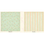 Graphic 45 - Baby 2 Bride Collection - 12x12 Double Sided Paper - Birdy Baby Blues