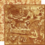 Graphic 45 - HalloweÂ'en in Wonderland Collection - 12 x 12 Double Sided Paper - Curiouser and Curiouser