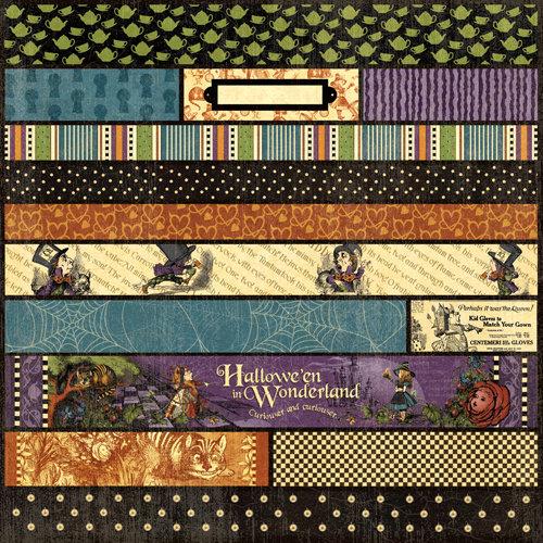 Graphic 45 - Hallowe'en in Wonderland Collection - 12 x 12 Die Cuts - Borders