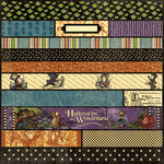 Graphic 45 - HalloweÂ'en in Wonderland Collection - 12 x 12 Die Cuts - Borders