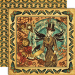Graphic 45 - Steampunk Debutante Collection - 12 x 12 Double Sided Paper - Time Flies