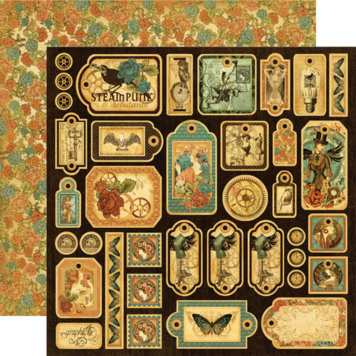 Graphic 45 - Steampunk Debutante Collection - 12 x 12 Die Cuts - Tags