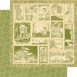 Graphic 45 - Once Upon a Springtime Collection - 12 x 12 Double Sided Paper - Enchanted Forest