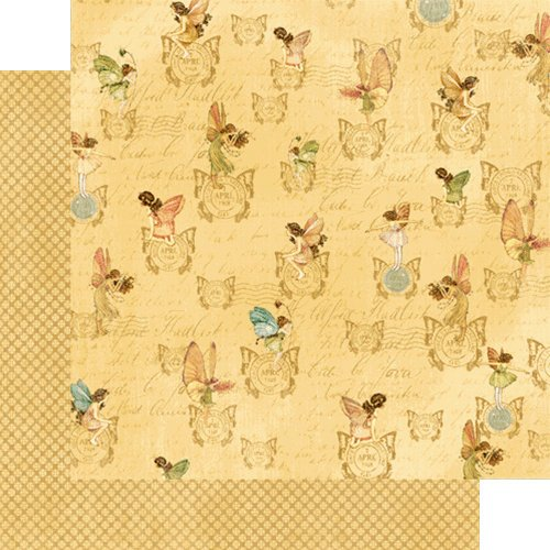 Graphic 45 - Once Upon a Springtime Collection - 12 x 12 Double Sided Paper - Pixie Post
