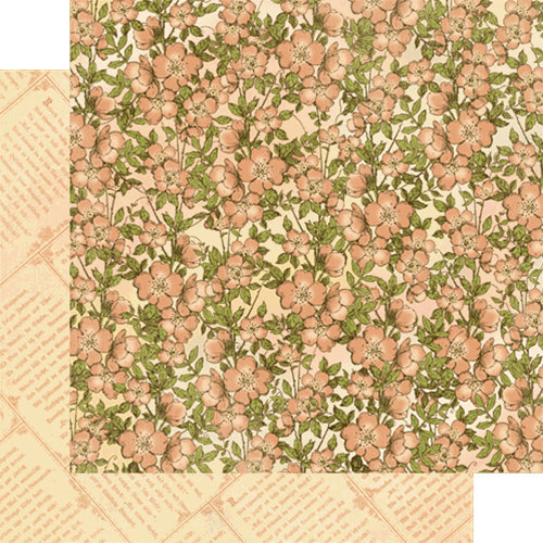 Graphic 45 - Once Upon a Springtime Collection - 12 x 12 Double Sided Paper - Primrose Cottage