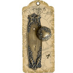 Graphic 45 - Staples Collection - Metal Door Plate and Knob - Ornate
