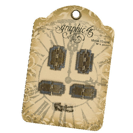 Graphic 45 - Staples Collection - Metal Hinges
