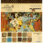 Graphic 45 - Le Cirque Collection - 12 x 12 Paper Pad