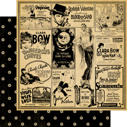 Graphic 45 - Curtain Call Collection - 12 x 12 Double Sided Paper - Top Billing