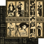 Graphic 45 - Curtain Call Collection - 12 x 12 Double Sided Paper - The Cinema