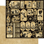 Graphic 45 - Curtain Call Collection - 12 x 12 Die Cuts - Tags