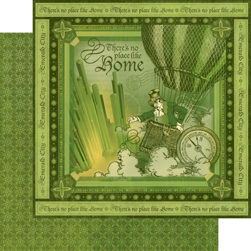 Graphic 45 - The Magic of Oz Collection - 12 x 12 Double Sided Paper - Emerald City