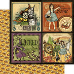 Graphic 45 - The Magic of Oz Collection - 12 x 12 Double Sided Paper - There's No Place Like Home