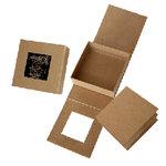 Graphic 45 - Staples Collection - 5 x 5 Kraftboard Shadowbox and Kraft Album