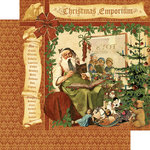 Graphic 45 - Christmas Emporium Collection - 12 x 12 Double Sided Paper - Christmas Emporium