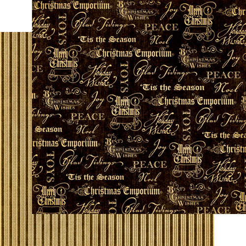Graphic 45 - Christmas Emporium Collection - 12 x 12 Double Sided Paper - Joyous Noel