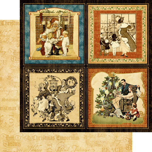 Graphic 45 - Christmas Emporium Collection - 12 x 12 Double Sided Paper - Happy Holidays