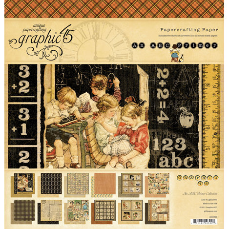 Graphic 45 - An ABC Primer Collection - 12 x 12 Paper Pad