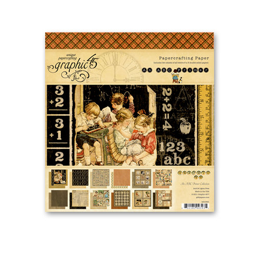 Graphic 45 - An ABC Primer Collection - 8 x 8 Paper Pad