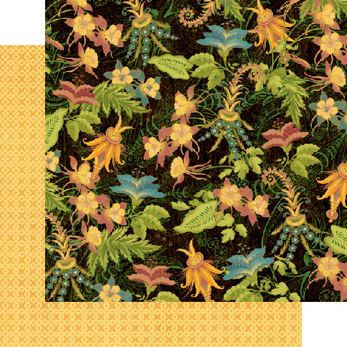 Graphic 45 - Tropical Travelogue Collection - 12 x 12 Double Sided Paper - Garden Isle