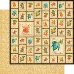 Graphic 45 - Tropical Travelogue Collection - 12 x 12 Double Sided Paper - Paradise Postage