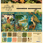 Graphic 45 - Tropical Travelogue Collection - 12 x 12 Paper Pad