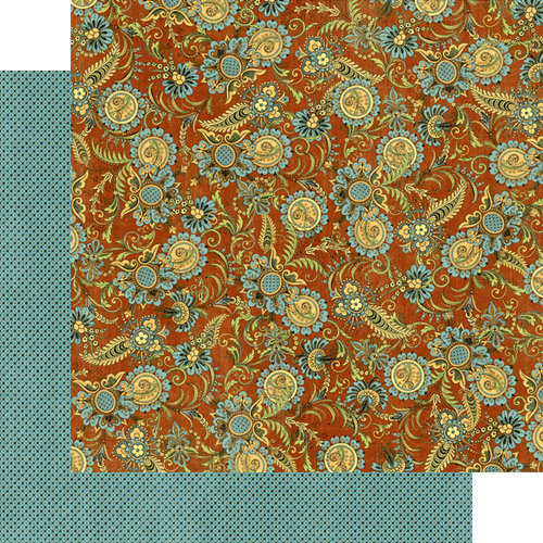 Graphic 45 - Olde Curiosity Shoppe Collection - 12 x 12 Double Sided Paper - Exquisite Motif