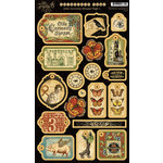 Graphic 45 - Olde Curiosity Shoppe Collection - Die Cut Chipboard Pieces - Tags One