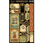 Graphic 45 - Olde Curiosity Shoppe Collection - Die Cut Chipboard Pieces - Tags Two
