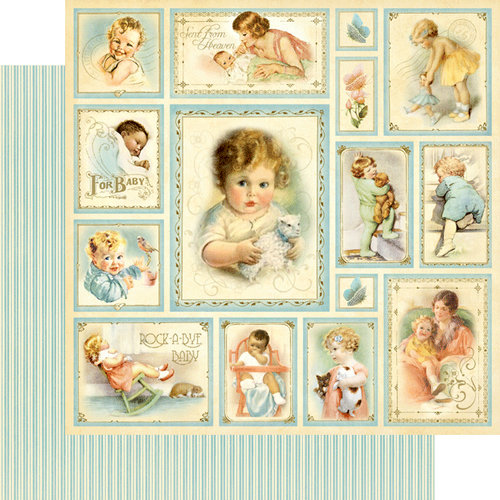 Graphic 45 - Little Darlings Collection - 12 x 12 Double Sided Paper - Bundle of Joy