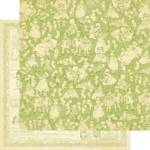 Graphic 45 - Little Darlings Collection - 12 x 12 Double Sided Paper - Kewpie Cute