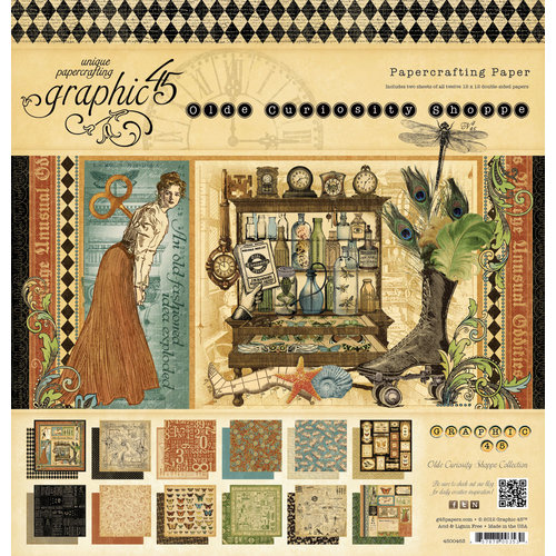 Graphic 45 - Olde Curiosity Shoppe Collection - 12 x 12 Paper Pad
