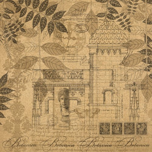 Graphic 45 - Kraft Reflections Collection - 12 x 12 Kraft Paper - Forgotten City
