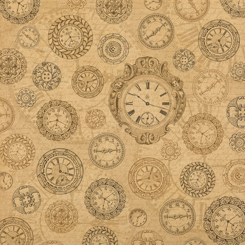 Graphic 45 - Kraft Reflections Collection - 12 x 12 Kraft Paper - Before your Time