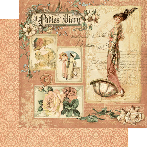 Graphic 45 - Ladies' Diary Collection - 12 x 12 Double Sided Paper - A Ladies' Diary