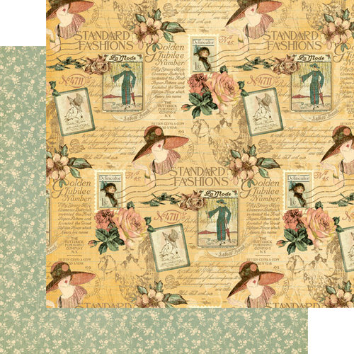 Graphic 45 - Ladies' Diary Collection - 12 x 12 Double Sided Paper - Picture Perfect