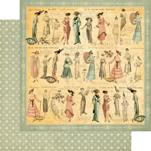 Graphic 45 - Ladies' Diary Collection - 12 x 12 Double Sided Paper - Garden Stroll