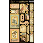 Graphic 45 - Ladies' Diary Collection - Die Cut Chipboard Tags - Two