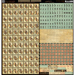Graphic 45 - Ladies' Diary Collection - 12 x 12 Cardstock Stickers - Alphabet