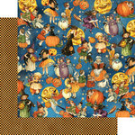 Graphic 45 - Happy Haunting Collection - Halloween - 12 x 12 Double Sided Paper - Trick or Treat
