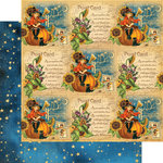 Graphic 45 - Happy Haunting Collection - Halloween - 12 x 12 Double Sided Paper - Jolly Jack-O-Lantern