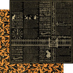 Graphic 45 - Happy Haunting Collection - Halloween - 12 x 12 Double Sided Paper - Bewitched