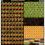Graphic 45 - Happy Haunting Collection - Halloween - 12 x 12 Cardstock Stickers - Alphabet