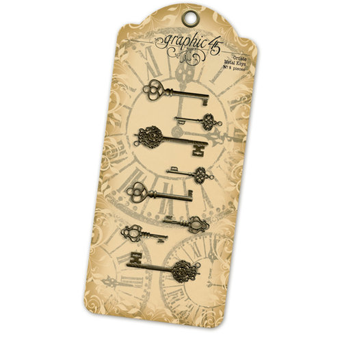Graphic 45 - Staples Collection - Ornate Metal Keys