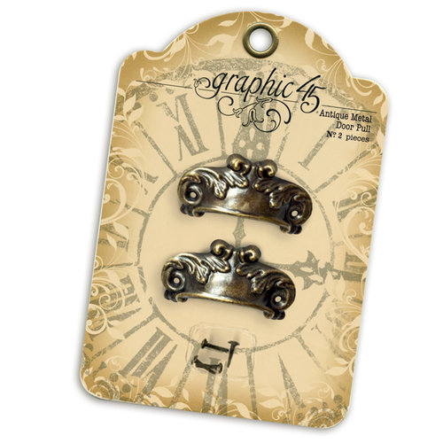 Graphic 45 - Staples Collection - Antique Metal Door Pull