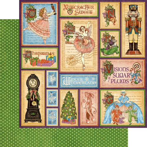 Graphic 45 - Nutcracker Sweet Collection - Christmas - 12 x 12 Double Sided Paper - Holiday Magic