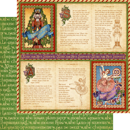 Graphic 45 - Nutcracker Sweet Collection - Christmas - 12 x 12 Double Sided Paper - Festive Fairytale