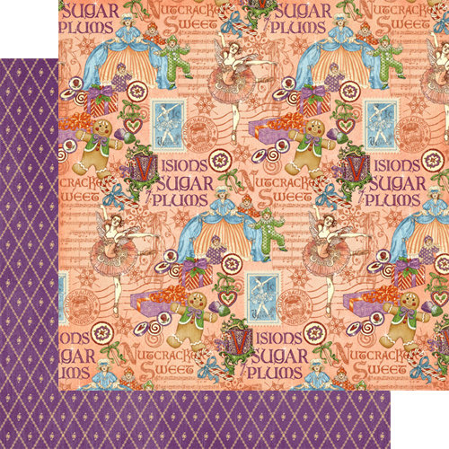 Graphic 45 - Nutcracker Sweet Collection - Christmas - 12 x 12 Double Sided Paper - Sugar Plum Fairy