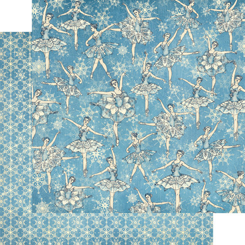 Graphic 45 - Nutcracker Sweet Collection - Christmas - 12 x 12 Double Sided Paper - Snowflake Waltz