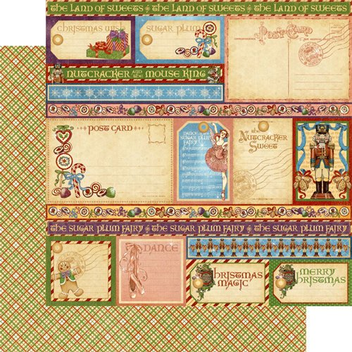 Graphic 45 - Nutcracker Sweet Collection - Christmas - 12 x 12 Double Sided Paper - Endearing Sentiments